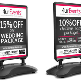 4ur EventsA Boards & Poster Designs