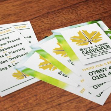 </br></br>Steve James Gardener</br>Business Cards
