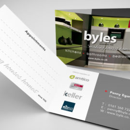 </br></br>Byles &#8211; Kitchens Bathrooms Bedrooms</br>Contact / Appointment Card